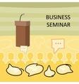 Business Seminar Concept vector image