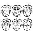 Different facial expressions on man vector image