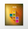Cover Magazine colorful box blurred background vector image