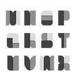 Alphabet set paper black style vector image vector image