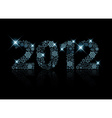 2012 made from blue snowflakes vector image vector image