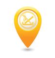 NOsmoking MAP pointer yellow vector image
