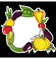 abstract vegetables background vector image vector image
