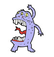 comic cartoon crazy monster vector image