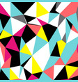 abstract triangles geometrical pattern vector image