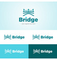 bridge and water logo vector image