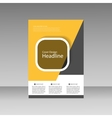 Brochure Design Layout template vector image