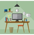 Creative office workspace vector image