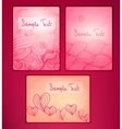 Doodle cards vector image