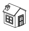 Isometric house and home building design vector image