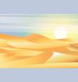 landscape background desert with dunes barkhans vector image