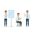 manager conducts professional business lessons vector image