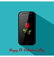 Valentines background in flat design style vector image