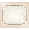 beauty vintage border vector image