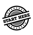 Start Here rubber stamp vector image
