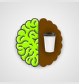 coffee in human brain clean vector image