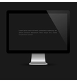 Stylish computer screen on black background vector image