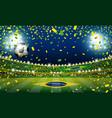 soccer ball in the brazil stadium with light vector image