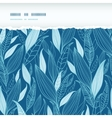 Blue Bamboo Leaves Horizontal Torn Seamless vector image vector image