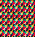 retro colored rhombus seamless pattern vector image