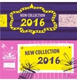 New collection 2016 Web Banner Header Layout vector image