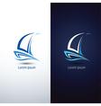 sailboat 3 vector image