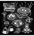 Japanese foods set vector image