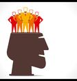 businessmen team in human head concept vector image