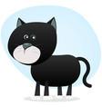 cartoon black cat vector image