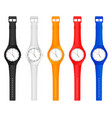 color wristwatch vector image