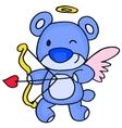 Cute cupid bear cartoon vector image