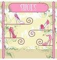 Decorative shoe showcase vector image