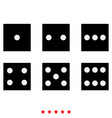dice nubes icon different color vector image