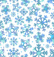 Different blue snowflakes Abstract seamless vector image