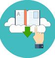 E-book download concept Flat design Icon in vector image