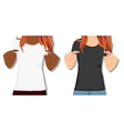 female t shirts realistically painted T vector image