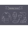 Hockey Sportswear Objects Line art vector image