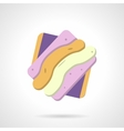 Marmalade candy flat color design icon vector image