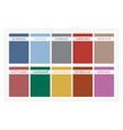 Palette Colors Fall 2016 with Name vector image