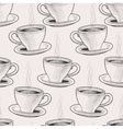 Seamless coffee cups vector image