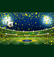 soccer ball in the brazil stadium with light vector image