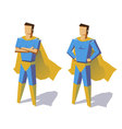 Super hero isolated minimalist design Picture vector image