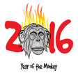 The year of fire monkey Chinese symbol calendar in vector image
