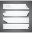 White paper long collections vector
