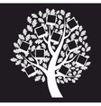 Family genealogical tree on black background vector image vector image