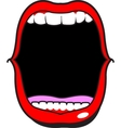 Wide Open Mouth vector image