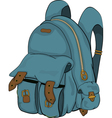 School backpack Cartoon vector image