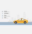 Taxi service infographic vector image