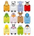 Animal calendar 2014 vector image vector image