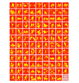A Set of Yellow and Red Sport Icons vector image vector image
